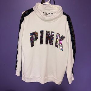 VS PINK Bling Fashion Show Cowl Pullover